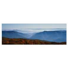 Fog over hills, Dolly Sods Wilderness, Monongahela Poster