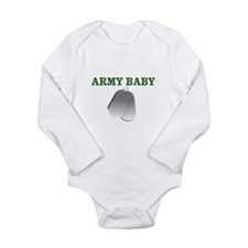 Cute Army baby Long Sleeve Infant Bodysuit