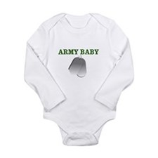 Cute Army girls Long Sleeve Infant Bodysuit