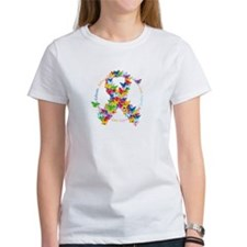 Autism-Butterfly-Ribbon-blk T-Shirt