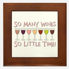 So Many Wines... Framed Tile