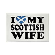 I Love My Scottish Wife Rectangle Magnet