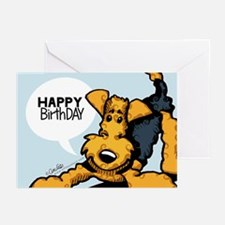 Airedale at Play Funny Birthday Greeting Cards (Pk