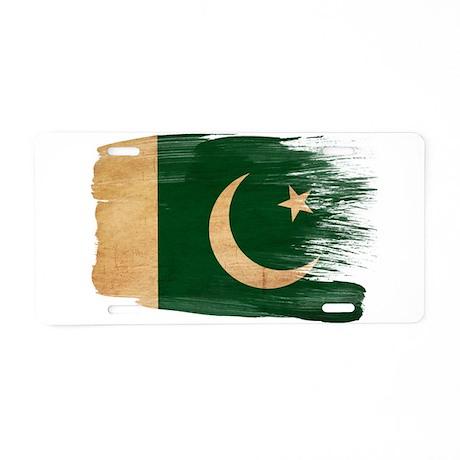 Pakistan Flag Aluminum License Plate