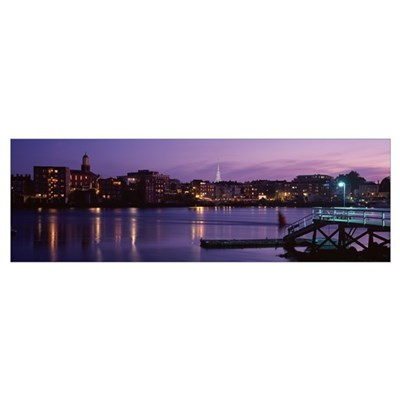 Cityscape Portsmouth NH Poster