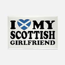 I Love My Scottish Girlfriend Rectangle Magnet