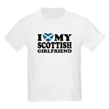 I Love My Scottish Girlfriend Kids T-Shirt