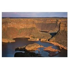 Washington, Dry Falls State Park, Panoramic view o