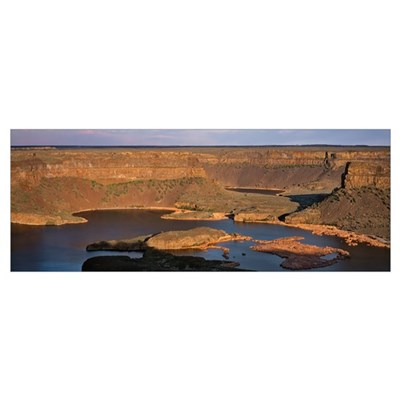 Washington, Dry Falls State Park, Panoramic view o Poster