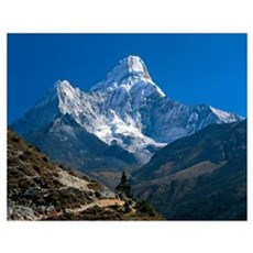 Nepal, Ama Dablam Trail, Temple in the extreme ter Poster