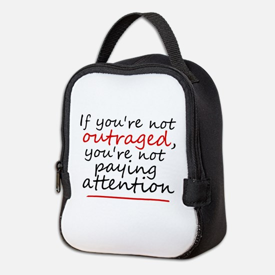'Outraged' Neoprene Lunch Bag