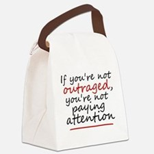 'Outraged' Canvas Lunch Bag