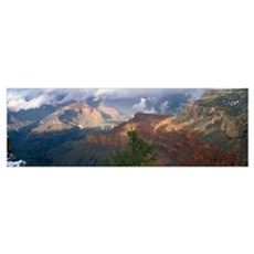 Arizona, Grand Canyon National Park, Rainbow and c Poster