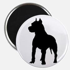 Pit Bull Terrier Silhouette Magnet