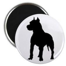 """Pit Bull Terrier Silhouett 2.25"""" Magnet (100 pack)"""