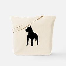 Pit Bull Terrier Silhouette Tote Bag