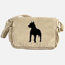 Pit Bull Terrier Silhouette Messenger Bag