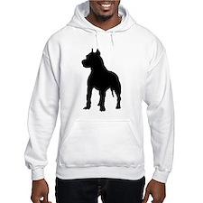 Pit Bull Terrier Silhouette Hoodie