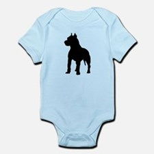 Pit Bull Terrier Silhouette Infant Bodysuit