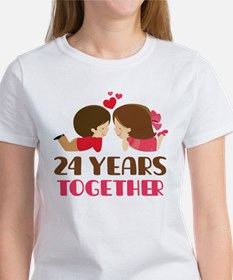 24 Years Together Anniversary Tee