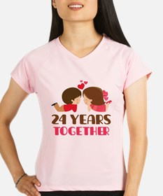 24 Years Together Anniversary Performance Dry T-Sh