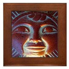 Mexico Aztec Sun God Framed Tile