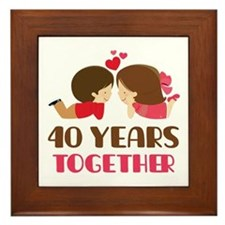 40 Years Together Anniversary Framed Tile