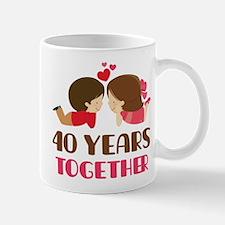 40 Years Together Anniversary Mug