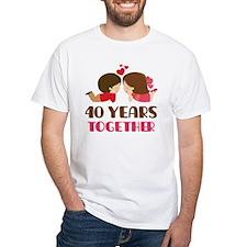 40 Years Together Anniversary Shirt