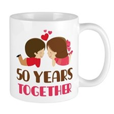 50 Years Together Anniversary Small Mugs