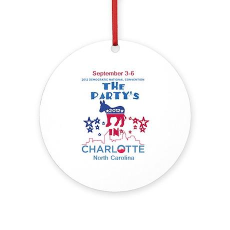 Democratic Convention Ornament (Round)