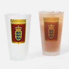 """Danish Gold"" Drinking Glass"