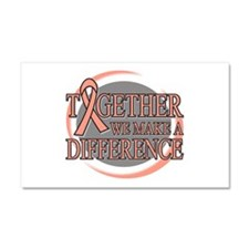 Uterine Cancer Support Car Magnet 20 x 12