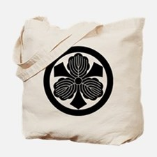 Three oak leaves with swords in circle Tote Bag
