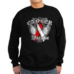 Oral Cancer Warrior Sweatshirt (dark)