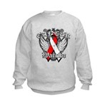 Oral Cancer Warrior Kids Sweatshirt