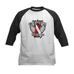 Oral Cancer Warrior Kids Baseball Jersey