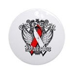 Oral Cancer Warrior Ornament (Round)
