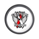 Oral Cancer Warrior Wall Clock