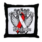 Oral Cancer Warrior Throw Pillow