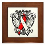 Oral Cancer Warrior Framed Tile