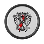 Oral Cancer Warrior Large Wall Clock