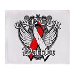 Oral Cancer Warrior Throw Blanket
