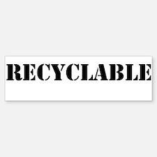 Recyclable Bumper Bumper Sticker