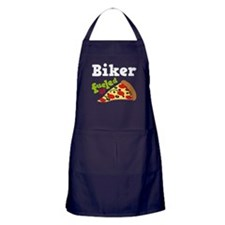 Biker Funny Pizza Apron (dark)