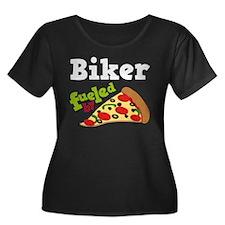 Biker Funny Pizza T