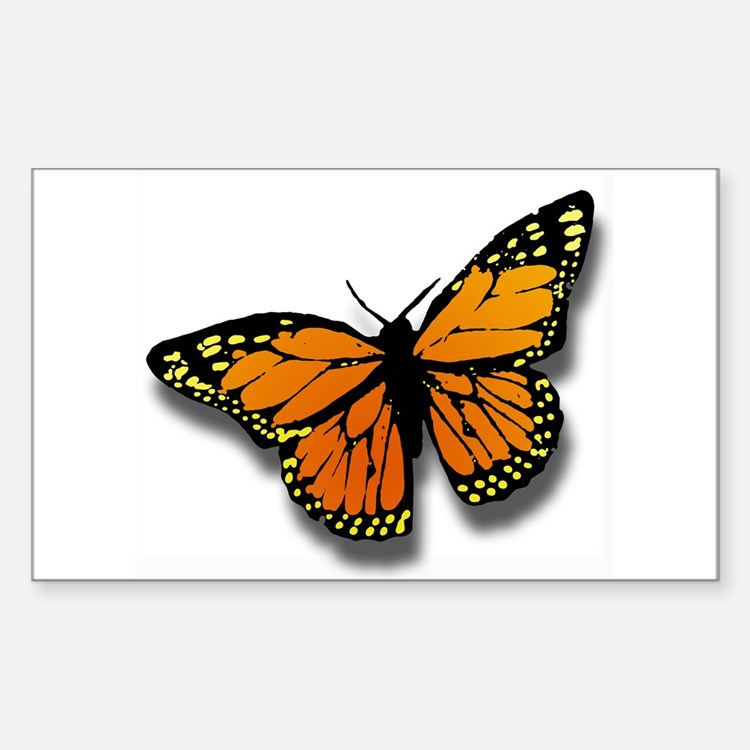 Butterfly Illusion Rectangle Decal