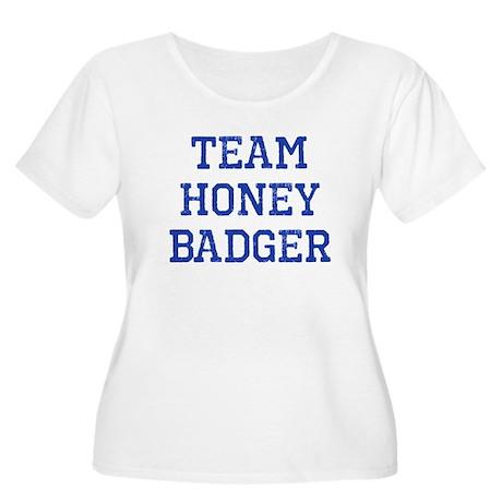 Team Honey Badger Women's Plus Size Scoop Neck T-S