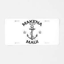 Makena Beach, Maui Aluminum License Plate