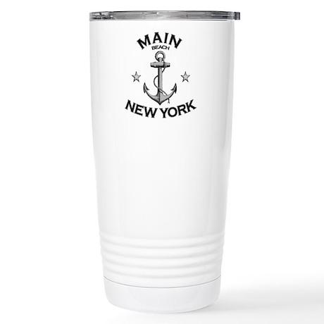 Main Beach, New York Stainless Steel Travel Mug